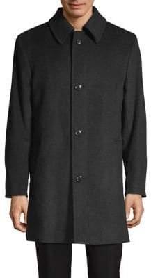 London Fog Loane Wool-Blend Overcoat
