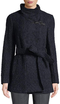 Cole Haan Novelty Boucle Wool Sweater