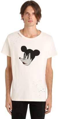 Mickey Distressed Jersey T-Shirt