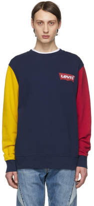 Levi's Levis Blue and Yellow Colorblock Sweatshirt