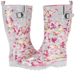 Forever Young Women's Mini Floral Printed Rain Boot