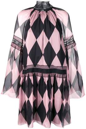 Philosophy di Lorenzo Serafini diamond pattern dress