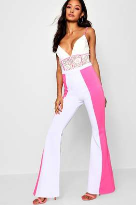 boohoo Panel Detail Flared Trouser