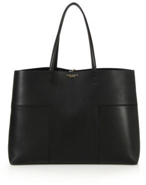 Tory Burch Block T Leather Tote $450 thestylecure.com