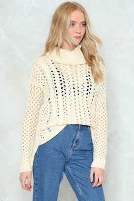 Nasty Gal See Knit Through Turtleneck Sweater