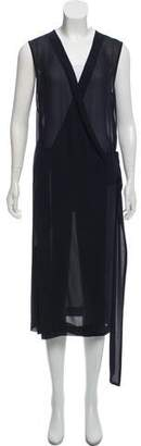 Victoria Beckham Semi-Sheer Wrap Dress