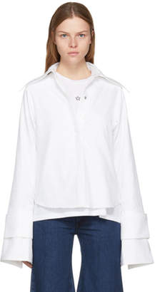 Marques Almeida White Double Sleeve Shirt