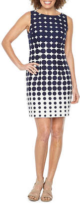 R & K Originals Sleeveless Ombre Dot Sheath Dress