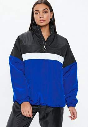 Missguided Black Colorblock Zip Front Jacket