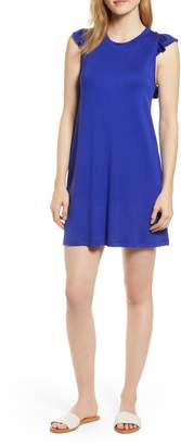 Gibson x Hi Sugarplum! Laguna Soft Jersey Ruffle Back T-Shirt Dress
