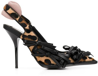 No.21 leopard pumps