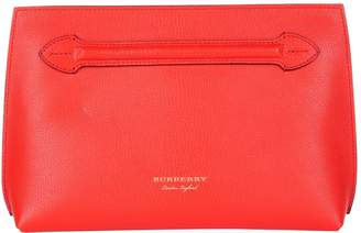 Burberry Leather Wristlet Clutch Bag