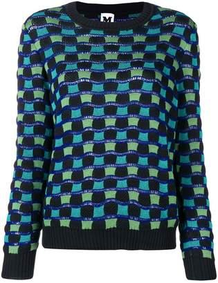M Missoni geometric pattern knit jumper