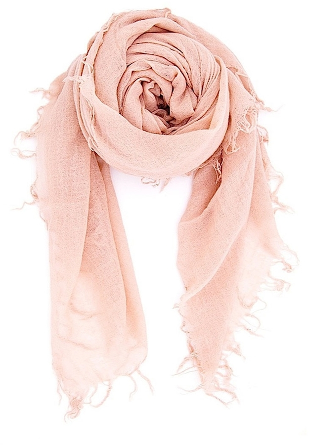 Chan LuuCHAN LUU Solid Scarf In Cameo Rose