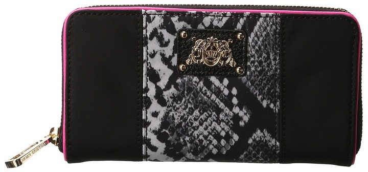 Juicy Couture Penny Nylon Zip Wallet (Multi Snake) - Bags and Luggage