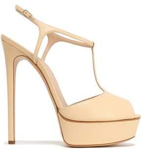 Casadei Denim T-Bar Platform Sandals