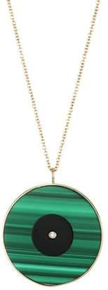 Jennifer Zeuner Jewelry Magda 14K Yellow Goldplated & Diamond Evil Eye Necklace