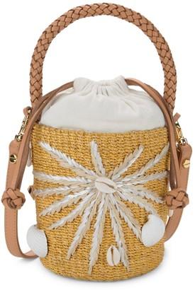 Aranaz Mini Halia Straw Bucket Bag