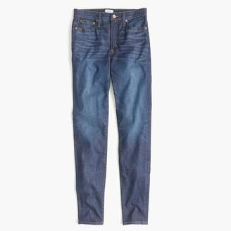 "J.Crew Petite 10"" highest-rise toothpick jean in medium wash"