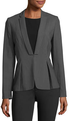 Tahari ASL Pinstriped Pleated Jacket