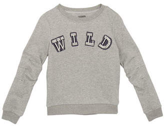 Hudson Mabel Beaded Wild Sweatshirt, Size S-XL