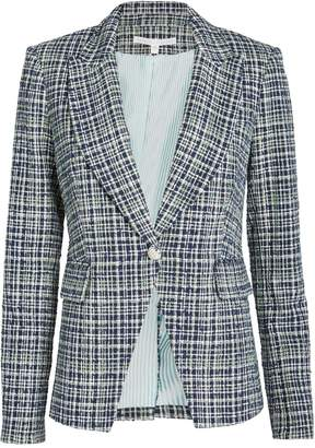 Veronica Beard Tweed Cutaway Dickey Blazer