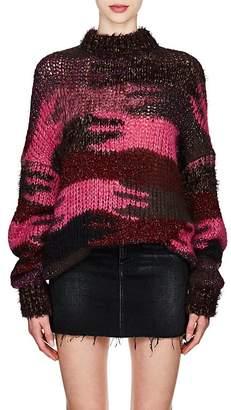 Saint Laurent Women's Camouflage Mohair-Blend Oversized Sweater