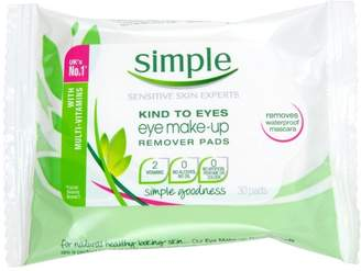 Simple Kind to Eyes Eye Make-Up Remover Pads - Pack of 6