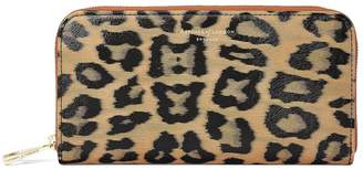 Aspinal of London Continental Clutch Zip Wallet In Leopard Print