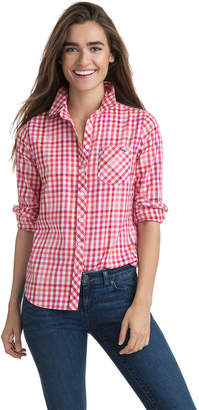 Vineyard Vines Cotton Cashmere Candy Cane Gingham Button Down