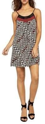 BCBGeneration Triangles Colorblock A-Line Mini Dress