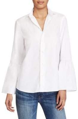 Polo Ralph Lauren Bell-Sleeve Cotton Broadcloth Shirt
