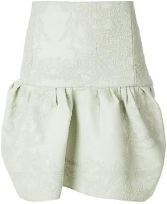 Chloé embossed design flared skirt