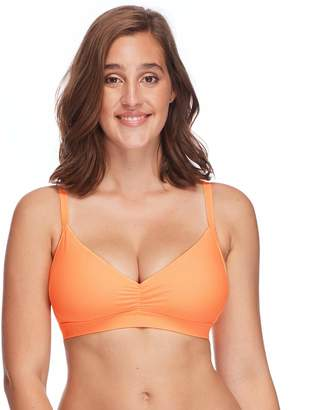 Body Glove Women's Smoothies Drew Solid D DD E F Cup Bikini Top Swimsuit