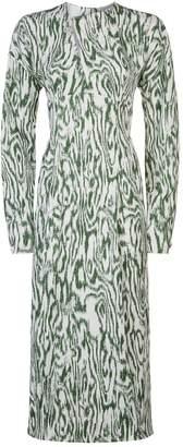 Victoria Beckham Slash Front Midi Dress