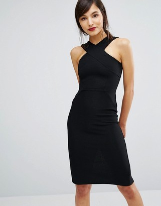 Oasis Cross Front Rib Tube Dress $73 thestylecure.com