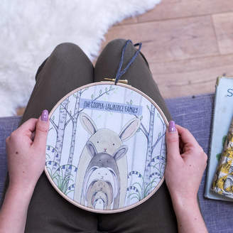 Sparks And Daughters Personalised Bunny Rabbit Family Hoop