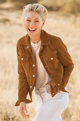 Next Womens Tan Emma Willis Suede Western Jacket - Natural