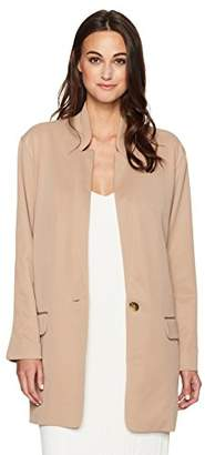 Halston Women's Sleeve Slim Long Jacket
