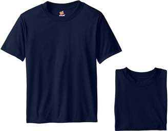 Hanes Big Boys' Short Sleeve Cool DRI Tee Pack of 3
