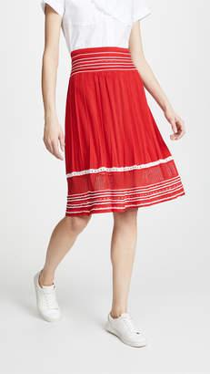 Stella Jean Striped Midi Skirt