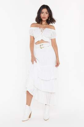 Nasty Gal Lost in the Sun Tiered Maxi Skirt