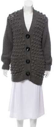 Stella McCartney Heavy Wool Cardigan Grey Heavy Wool Cardigan
