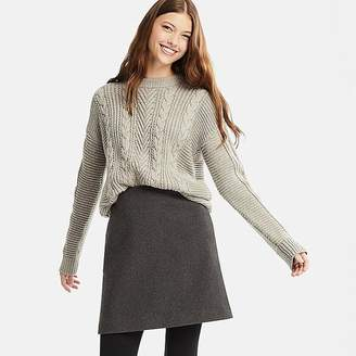 Uniqlo Women's Wool-blend High-waisted Mini Skirt
