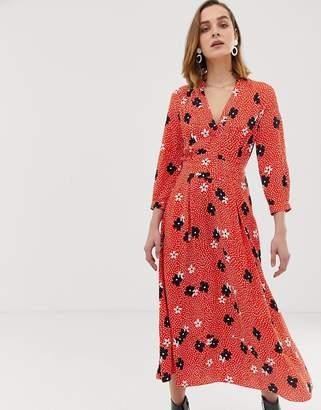 55394c34cb Whistles confetti floral print midi dress