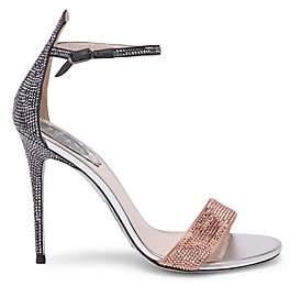 Rene Caovilla Women's Satin Ankle Strap Stiletto Pumps