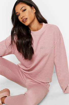 boohoo Bridesmaid Embroidered Sweater