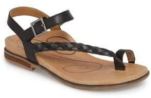 Aetrex Evie Braided Strap Sandal