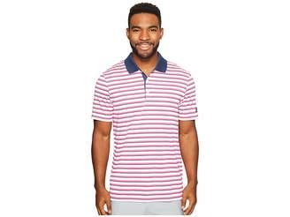 adidas Club Merch Stripe Polo Men's Short Sleeve Pullover