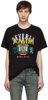 Amiri Black Beverly Hills T-Shirt